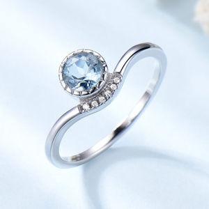 Nano Sky Blue Topaz Solid 925 Sterling Silver Ring